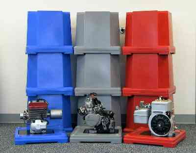 Go Kart Engine Container - Scribner Plastics - Manufacturers of Utility Jugs, Funnels, Engine Shipping Cases, Transmission Shipping Cases and Other Racing Products